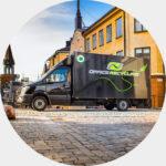 Fossilfri återvinning för företag i Stockholm
